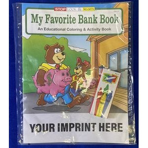 My Favorite Bank Book Coloring Book Fun Pack